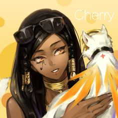 Pharah and Mercy - More at https://pinterest.com/supergirlsart/ #overwatch #cat #cute #fanart