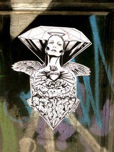 Woman's Diamond   #StreetArt #Street #Art #WomanDiamond #Barcelona #B4S