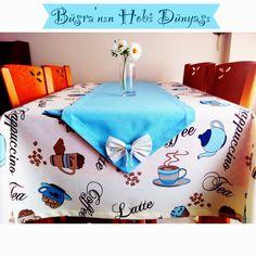 Büşra'nın Hobi Dünyası: Mavi Masa Örtüsü :)