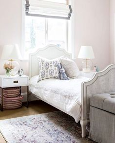 We're featuring this dreamy bedroom by @studiomcgee on the blog today.  So delicate and airy  And pretty much the exact opposite of the bedroom I had growing up  Too bad I didn't have Shea to get me back on track  http://wp.me/p7r27P-5jC #CopyCatChic