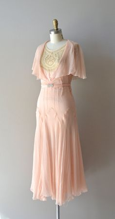 silk 1920's dress Doucement by DearGolden,