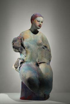 Area artist Michelle Gregor creates sculpture in high fire ceramic and bronze… Ceramic Figures, Clay Figures, Ceramic Art, Ceramic Pottery, Sculpture Images, Sculpture Art, Ceramic Sculptures, Contemporary Artwork, Contemporary Artists