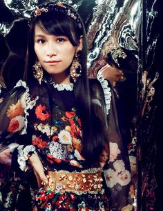 Perfume - A-chan Perfume Jpop, Electro Music, Editorial Fashion, Style Inspiration, Portrait, Cute, Clothes, Beauty, Vogue Japan