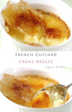 Hi, I am Eugenie. Today I am going to make Crème Brûlée. The base is French custard. It's different from English custard. French custard is richer because it requires heavy crème and more egg yolks. First I will make French … Continue reading → Desserts Français, French Desserts, Dessert Recipes, Homemade Desserts, Sweet Desserts, Plated Desserts, Keto Cheesecake, Tray Bakes, Sweet Tooth