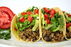 The Garden Grazer: Black Bean Lentil Tacos Super yummy with 1 cup corn salsa subbed for the salsa + broth