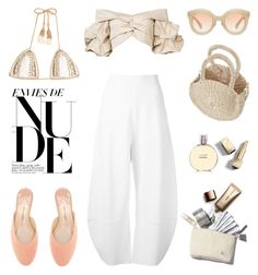 """""""Unbenannt #969"""" by fashionlandscape ❤ liked on Polyvore featuring Kaleos, Paul Andrew, Nude by Nature, Johanna Ortiz, STELLA McCARTNEY, Burberry, Chanel and SHE MADE ME"""
