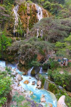 Hidalgo- Grutas de Tolantongo. six-hour drive from Uruapan, Michoacan, Mexico. Buses from San Antonio? Camp?
