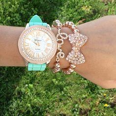 Geneva watch, love bracelet, bow bracelet