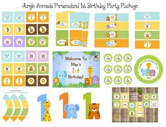ANIMALI della giungla bambino 1 compleanno o di traditionsbydonna