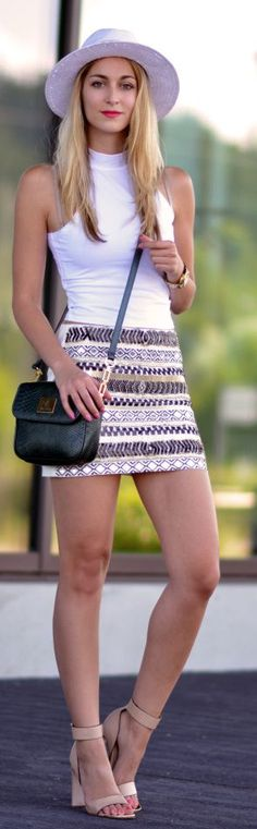 Aztec Print Skirt by The Vogue Word