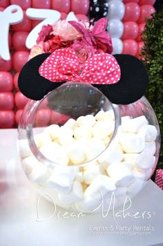 Minnie Mouse Polka dots Birthday Party Ideas | Photo 7 of 32 | Catch My Party
