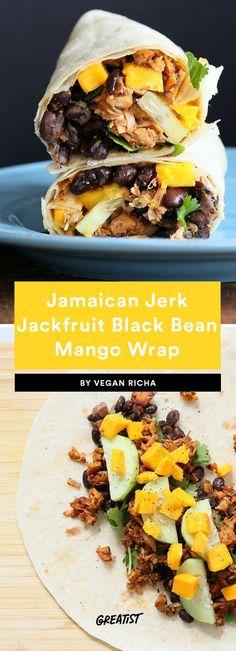 Vegan Jamaican Jerk Jackfruit Black Bean and Mango Wrap Vegan Breakfast Muffins, Healthy Breakfast Smoothies, Avocado Breakfast, Avocado Toast, Breakfast Recipes, Gourmet Recipes, Diet Recipes, Vegetarian Recipes, Healthy Recipes