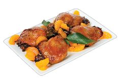 Duck Leg Confit with Mandarin Orange Slices from #YummyMarket Thanksgiving Special