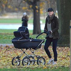 popsugar:  Duchess of Cambridge out with Prince George for a stroll in Kensington Gardens, December 4, 2013