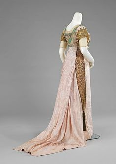 1912 Egyptian Revival evening gown