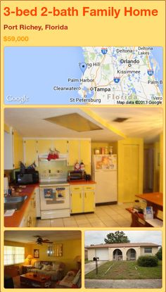 3-bed 2-bath Family Home in Port Richey, Florida ►$59,000 #PropertyForSale #RealEstate #Florida http://florida-magic.com/properties/78250-family-home-for-sale-in-port-richey-florida-with-3-bedroom-2-bathroom