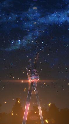 Kirito and asuna's sword anime sword art online sword mobi Otaku Anime, Manga Anime, Film Anime, Fanarts Anime, Schwertkunst Online, Arte Online, Online Anime, Sword Art Online Kirito, Popular Art