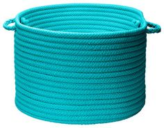 Stripe It Turquoise Utility Basket - contemporary - baskets - by Colonial Mills, Inc