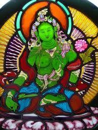 Green Tara-hesterstainedglass.com