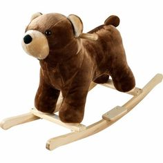 Find Happy Trails Plush Rocking Barry Bear with Sounds in the Rocking Horses category at Tractor Supply Co.This soft, plush Rocking Barry Bear f Wooden Rocker, Pet Rocks, Ride On Toys, Happy Trails, Woodland Nursery, Woodland Theme, Woodland Baby, Toddler Toys, Toddler Fun