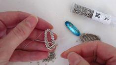 Beadweaving Tutorial: Bezel for a Long Oval Swarovski Crystal Rhinestone