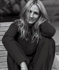 Julia Roberts in The WSJ -love the discreet watch and bangle