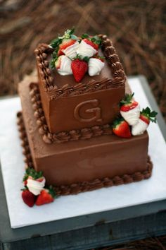 Indulge Sweet Shoppe - Clanton, Al  Chocolate Groom's Cake