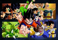 Dragon Ball Z ~~ Great wallpaper of some butt-kicking characters