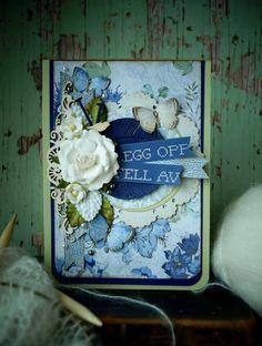 Synnøves Papirverksted: Knitting and flowers