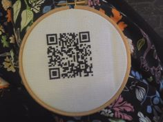 #www.qr-3d.weebly.com #qr #3d #code  #embroidery #stitch