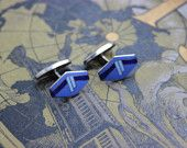 Art Deco enamel cufflinks