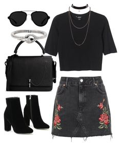 """Untitled #470"" by anaromeromx ❤ liked on Polyvore featuring Topshop, Monki, Carven, 3.1 Phillip Lim and Acne Studios"
