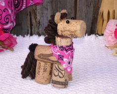 Wine Cork HORSE Figurine by KimCarlstonDesign on Etsy