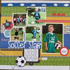 Scrapbook idea for sports star!