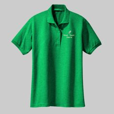 Embroidered Custom Track Ladies Silk Touch Polo