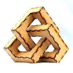 Trefoil Knot 3D puzzle 3D Jigsaw-like puzzle.