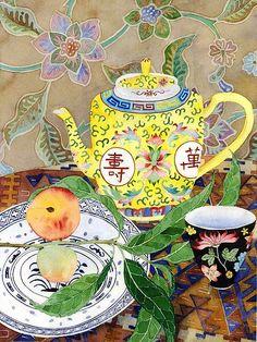 유 Still Life Brushstrokes 유 Nature Morte Painting by Gabby Malpas Chinoiserie, Illustrations, Illustration Art, Tea Art, Arte Popular, Still Life Art, Pics Art, Painting Inspiration, Painting & Drawing