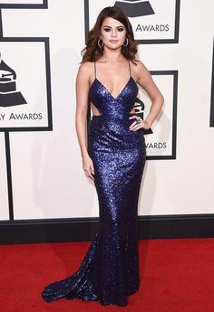 WHO: Selena Gomez  WHAT: Presenter  WEAR: Calvin Klein Collection dress; David Webb jewelry; Giuseppe Zanotti shoes.