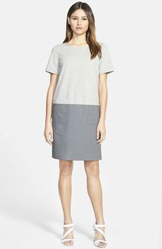 Lafayette+148+New+York+Colorblock+Mixed+Media+Shift+Dress+available+at+#Nordstrom