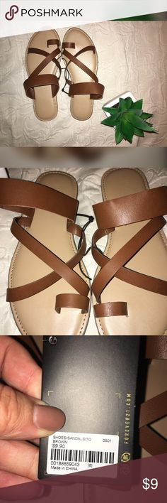 F21 Sandal BRAND NEW! NWT :) Forever 21 Shoes Flats & Loafers