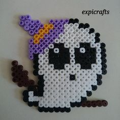 Ghost - Halloween hama beads by expicrafts