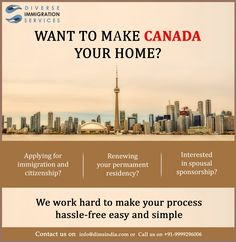 Want to make #Canada your home? #Immigration #StudyAbroad #WorkAbroad #StudyVisa #VisaServices #immigrationservices