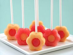 melon flower pops