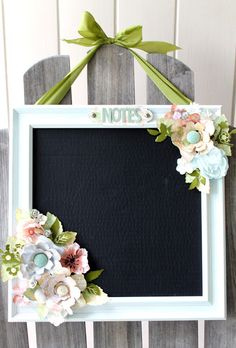 Chalkboard by Cari Fennell for Prima/ Sizzix using Prima Sizzix Dies, Prima 12x12 Frame and Chalk Edgers #sizzix #primamarketing