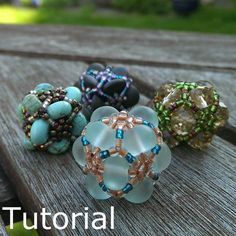 Magic Eight Beaded Bead Pattern/Tutorial  Instant by BearlyBeaded, £3.50