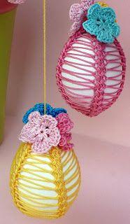 Riciclo Creativo - Craft and Fun: Uncinetto creativo: uova decorate