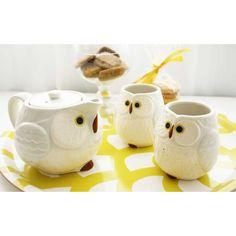 Owl Ceramic Tea Set