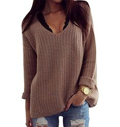 Damen Acrylic Knit Casual Herbst Long Sleeve Loose Strickjacken Pullover Sweater Top Grau XL Popbop http://www.amazon.de/dp/B015IRUNQU/ref=cm_sw_r_pi_dp_VAZqwb1K793EE