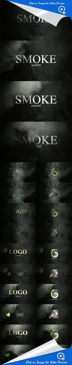intro, logo, mystic, opener, particles, particular, reveal, smoke, text, type, after effects templates, after effects ideas, after effects motion graphics, after effects projects, videohive projects Smoke And Dust    Drag n' drop logo or text revealer   AE CS5+  HD 1920X1080    Particular plugin required  Music (not included): http://audiojungle.net/item/modern-cinema-logo-7/2556018?_ga=1.264469516.2093683247.1341913665