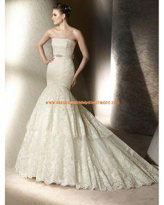 Luxurise wunderschne Brautkleider aus Spitze und Satin Meerjungfrau Hochzeitskleid 2012